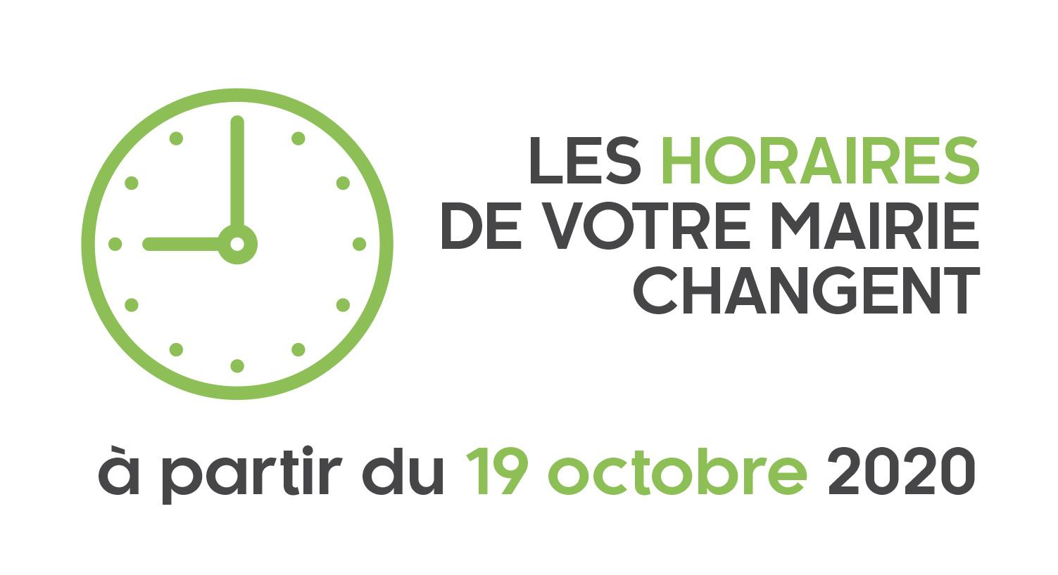 Mairie : changement des horaires d'ouverture au public