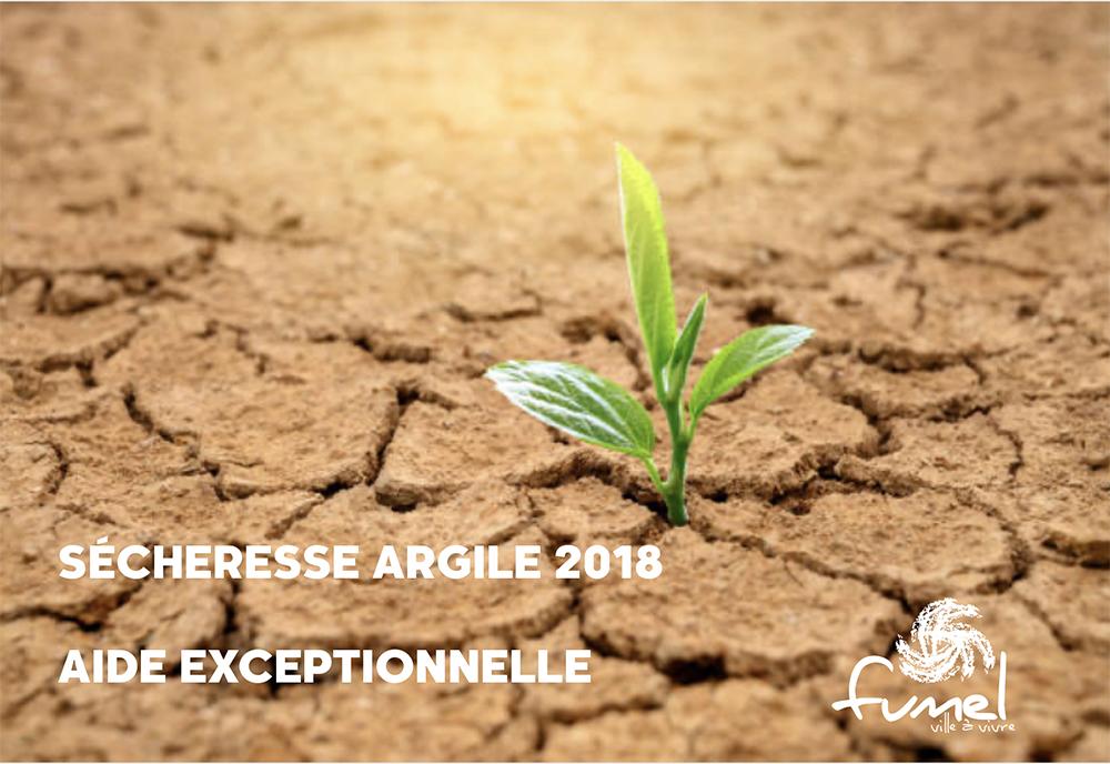 DISPOSITIF D'AIDE EXCEPTIONNELLE - SÉCHERESSE ARGILE 2018